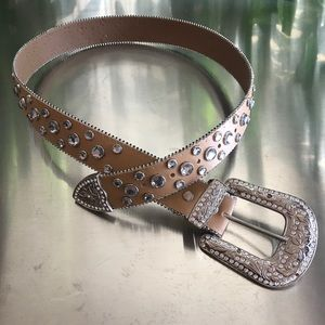 Rhinestone belt and Buckle